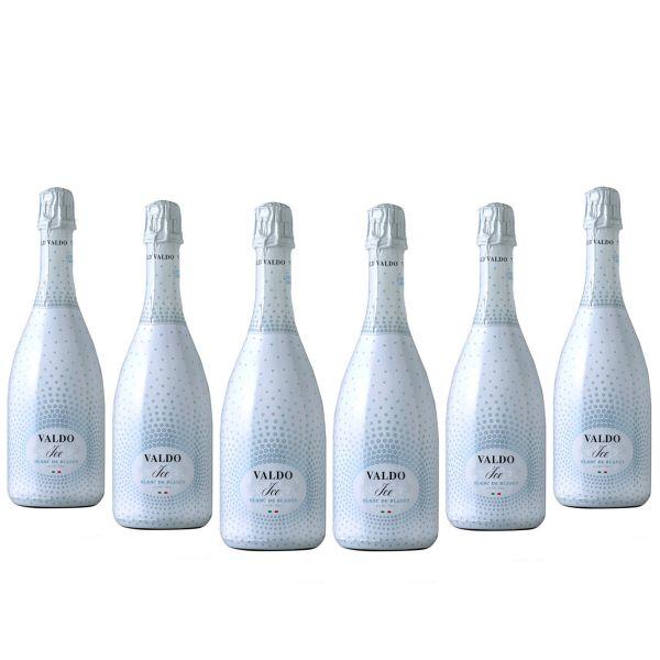 Sparpaket Valdo Ice Blanc de Blancs Spumante Demi-Sec (6 x 0,75 l) inkl. Valdo Flaschenverschluß