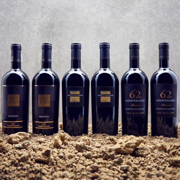 Probierpaket Primitivo - Der beliebte Rotwein aus Apulien (6 x 0,75l)