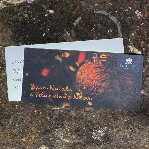 Grußkarte (Weihnachten) mit persönlichem Text