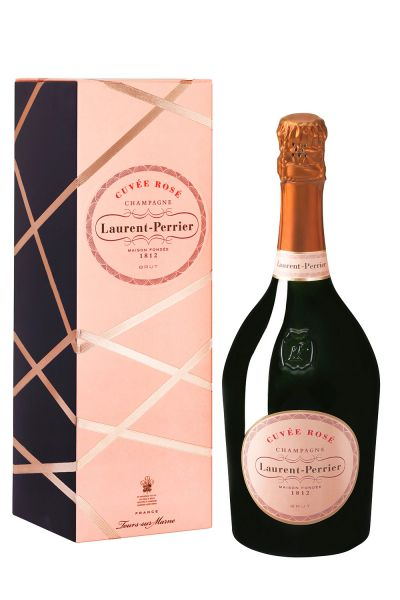 Laurent-Perrier Champagner Cuvée Rosé mit Geschenkverpackung