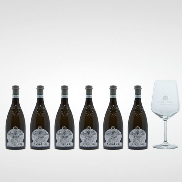 Sparpaket Cà dei Frati Lugana I Frati DOC 2020 (6 x 0,75l) mit Spiegelau Senti Vini Weinglas