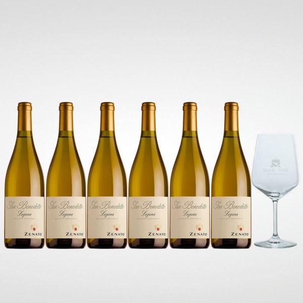 Sparpaket Zenato Lugana San Benedetto DOC 2020 (6 x 0,75l) mit Spiegelau Senti Vini Weinglas