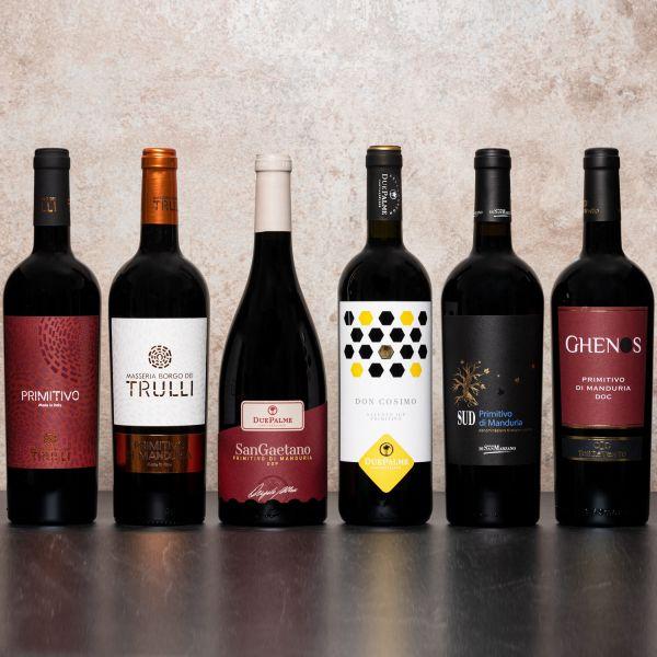 Probierpaket Primitivo - Der Rotwein-Topseller aus Apulien (6 x 0,75l)